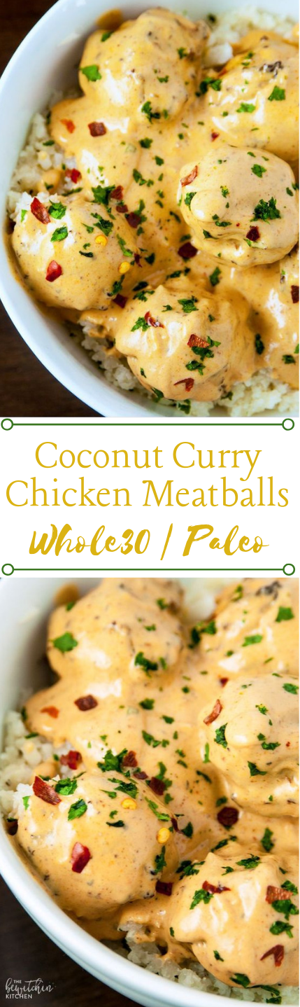 COCONUT CURRY CHICKEN MEATBALLS  #meatballs #diet #coconut #healthydiet #food