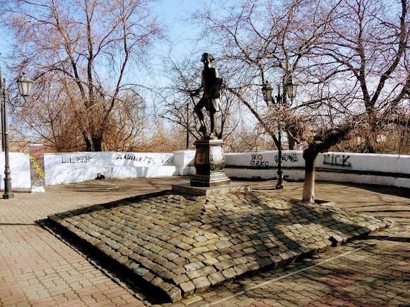 Одеса. Вул. Дерибасівська. Пам'ятник Хосе де Рібасу