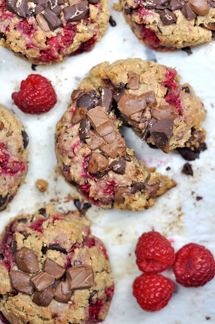 Cookies Saludables de Frambuesa y Chocolate