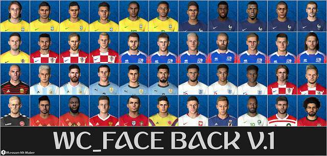World Cup Russia 2018 Mega Facepack PES 2017