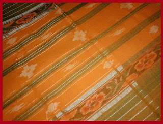 End-piece of a cotton Berhampuri saree