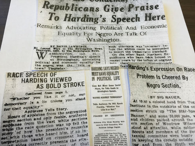 President Harding racial equality