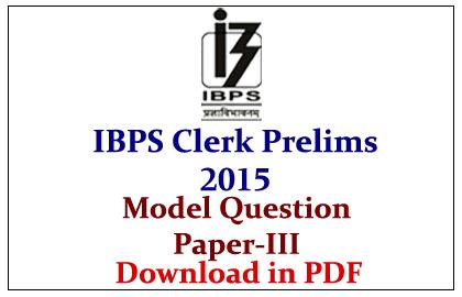 Ibps Clerk 2015 Model Question Paper Pdf