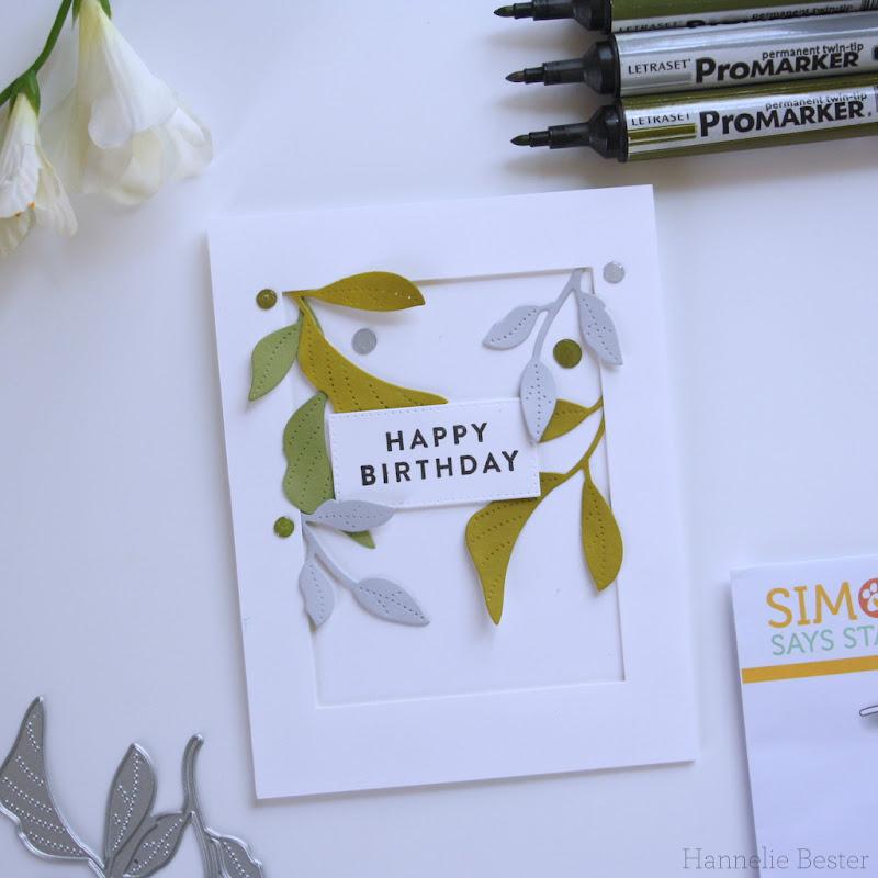 Simon says stamp tender leaves die