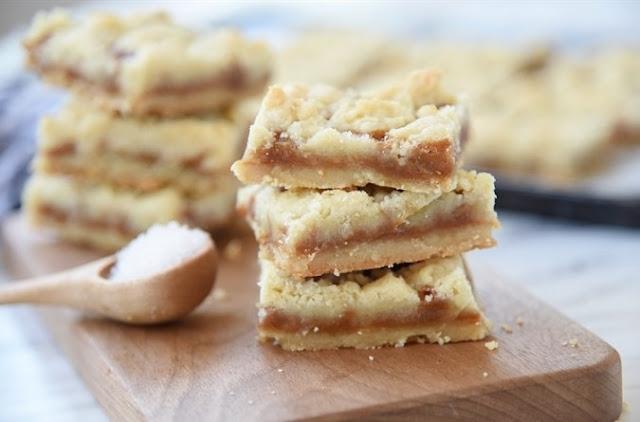 Salted Caramel Bar #desserts #baking