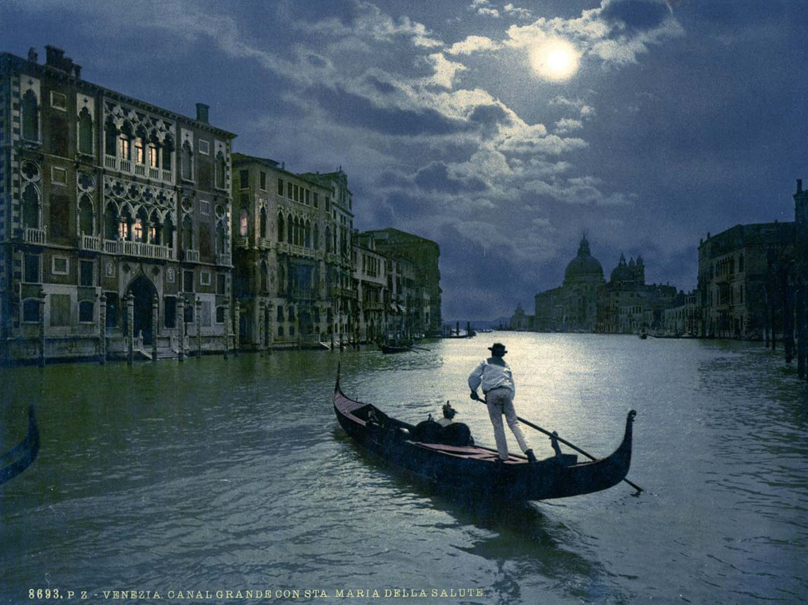 The Grand Canal by moonlight.