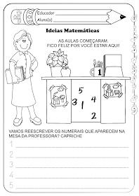 Atividades para o primeiro dia de aula 1