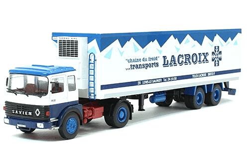 saviem ps 30 t 1/43 lacroix, coleção caminhões articulados altaya, coleção caminhões articulados planeta deagostini, coleção caminhões articulados 1:43