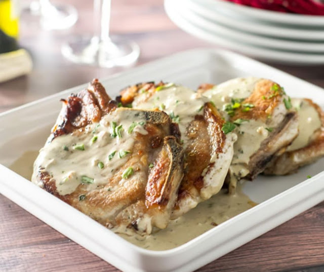 Oven Roasted Pork Chops With Delicious Mustard Sauce
