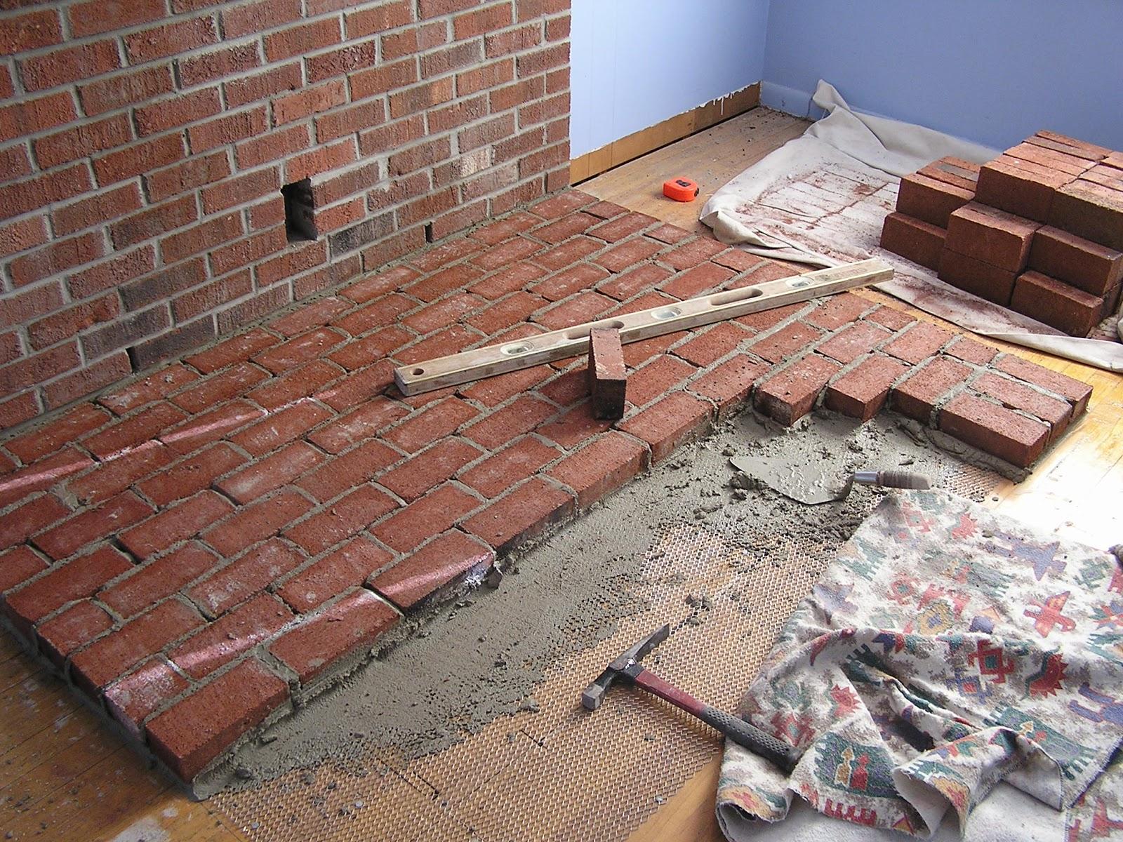 Brick Laminate Picture: Brick Hearths