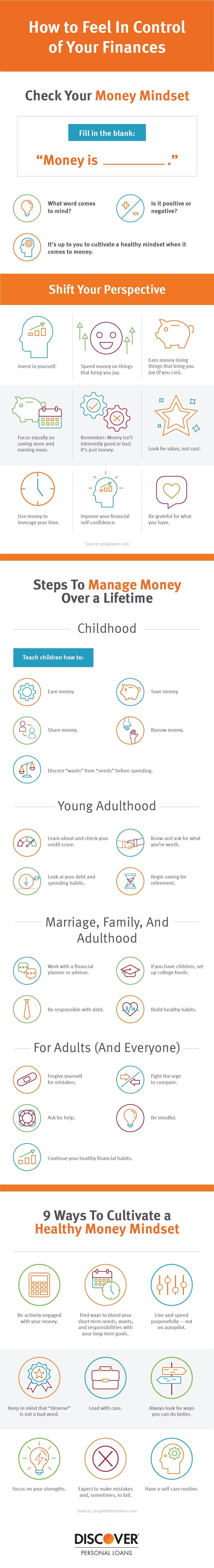How to Feel In Control of Your Finances #infographic