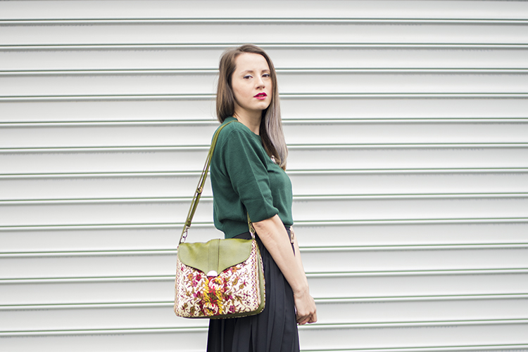 Skinny Buddha Romanian Fashion Blogger Pleated Skirt Crop Sweater