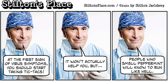stilton's place, stilton, political, humor, conservative, cartoons, jokes, hope n' change, coronavirus, tic-tacs