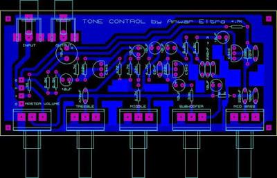 PCB Tone Control Mono Circuit