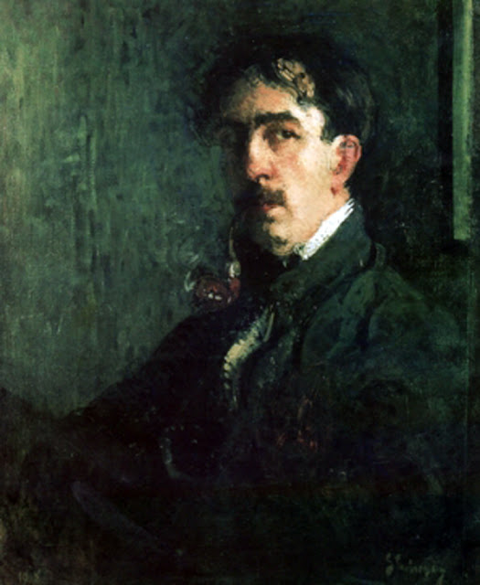 Eustaţiu Stoenescu, Self Portrait, Portraits of Painters, Fine arts, Portraits of painters blog, Paintings of Eustaţiu Stoenescu, Painter Eustaţiu Stoenescu