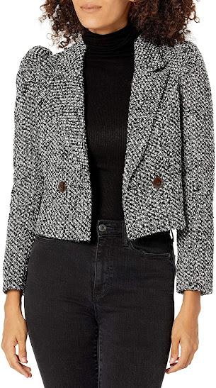 Wool Cropped Blazers For Women