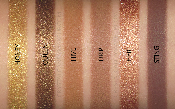 Palette fards paupières Naked Honey Urban Decay Swatches Revue