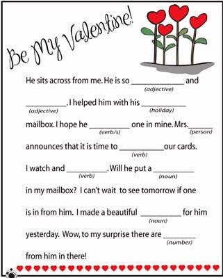 Valentine Mad Libs 10
