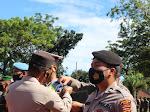 Apel Gelar Pasukan Pelaksanaan Operasi Patuh Toba 2021 di Gelar di Polres Nias