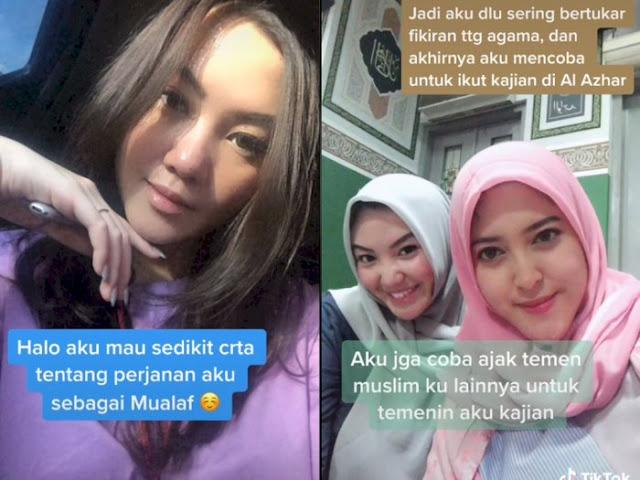 Berawal Ikut Kajian, Wanita Ini Akhirnya Putuskan Masuk Islam, Netizen: Semoga Istiqomah