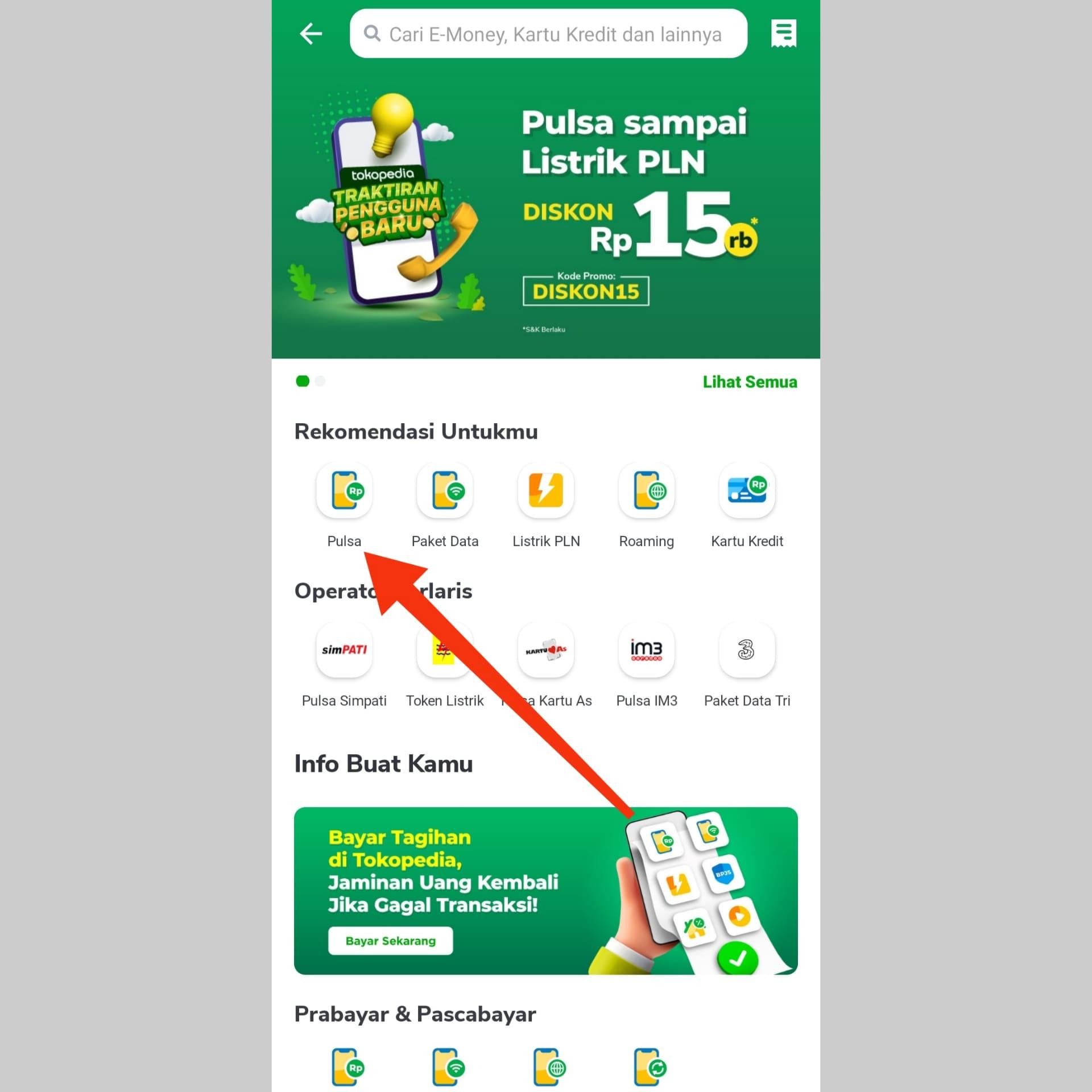 Cara Beli Pulsa di Tokopedia, Dapat Diskon 15K untuk Pengguna Baru