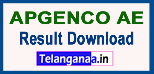 APGENCO AE Merit List Results Download