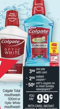 FREE Colgate Total Mouthwash CVS Deal 6/28-7/4