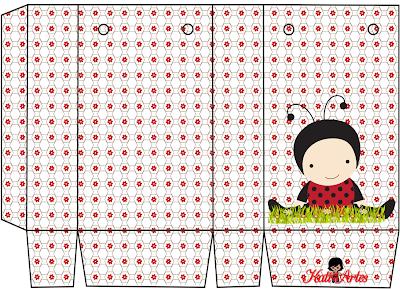 Mariquita en el Campo: Bolsas de Papel para Imprimir Gratis.