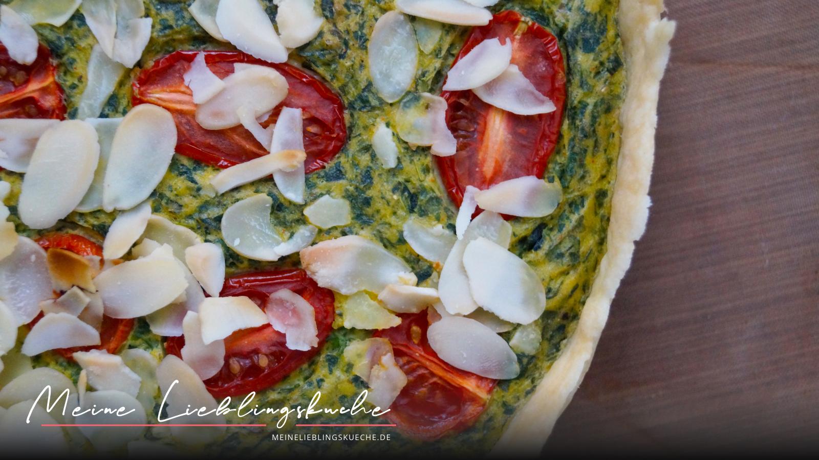 Quiche mit Spinat und Tomaten