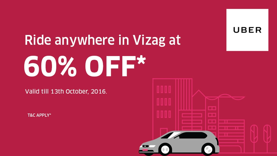 Vizag ! Get 60% Off On Your Next 10 Rides