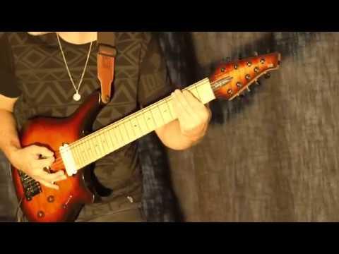 alex hutchings craig blundell shine ah8 custom 8 string waghorn guitar roland td 50 roland. Black Bedroom Furniture Sets. Home Design Ideas