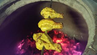 Chicken Tangdi kebab cooking in Tandoor best dinner ideas