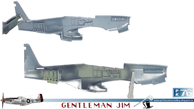 Eduard P-51D Mustang 357th FG cockpit Gentleman Jim