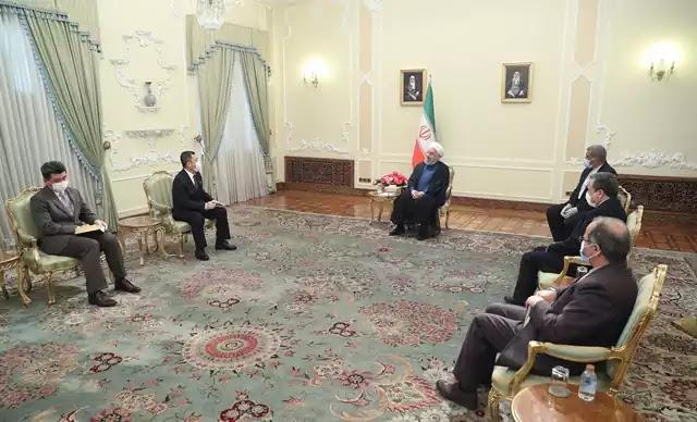 Hassan Rouhani and Han Song U, June 24, 2020