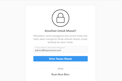 Reset Akun Instagram