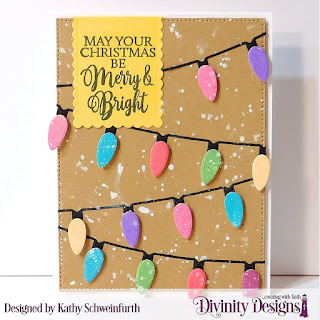 Custom Dies: Christmas Lights, Pierced Rectangles, Scalloped Rectangles Stamp Set: True Light