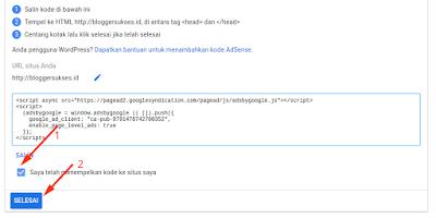 blog yang sudah terdaftar di google adsense