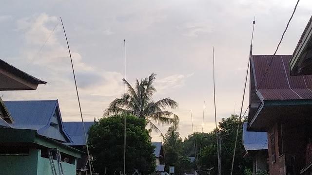 Di Cenrana Baru Maros, Warga Dirikan Tiang Bambu Untuk Dapatkan Jaringan Internet
