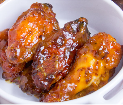 Honey Mustard BBQ Chicken Wings