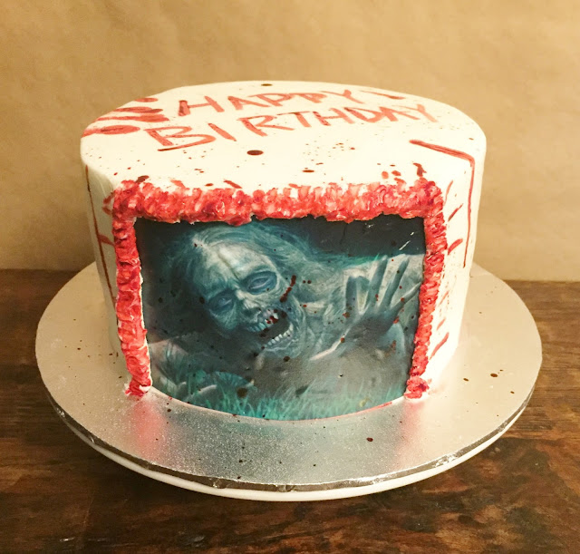 walking dead birthday cake cakes by walking dead cake 8 quot 8345