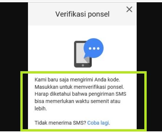 Pengiriman Kode Proteksi Via SMS 3