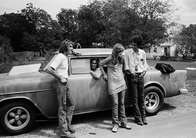 Filming Two-Lane Blacktop: Dennis Wilson, James Taylor, Laurie Bird and Monte Hellman
