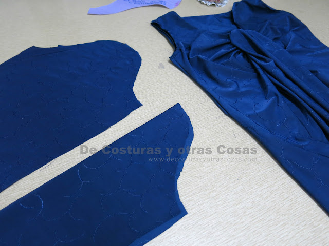 blusa punto jersey con cuello drapeado