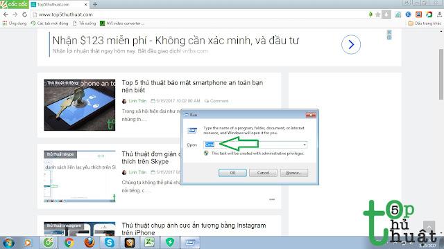 Sử dụng lệnh trong Windows để kiểm tra ping mạng
