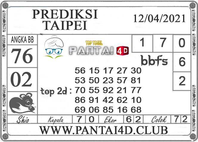 PREDIKSI TOGEL TAIPEI PANTAI4D 12 APRIL 2021