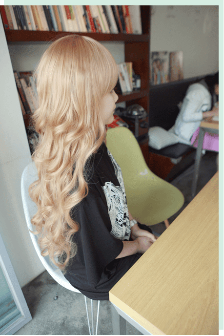 Korean Fashion Beauty Wig - Princess Alice Color Blonde Model 3