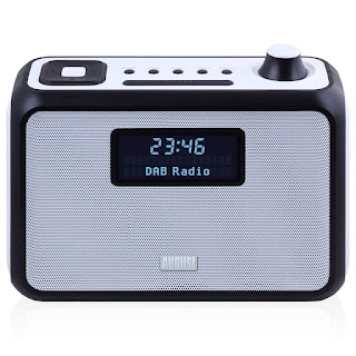 August MB400 – DAB/DAB+ Clock Radio – Kitchen Radio with Alarm Clock / FM Tuner / Digital Radio / NFC Bluetooth Speaker / MP3 Player (SD Card and USB Stick) / 3.5mm Audio In – Mains or Battery (4xC not inc.) Powered – (Black)