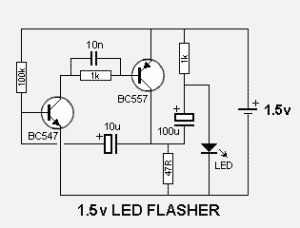 Wiring panel: 1 5V POWERED LED FLASHER ELECTRONIC DIAGRAM