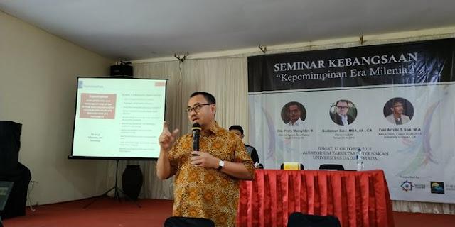 Sudirman Said heran seminarnya dibatalkan UGM tanpa alasan jelas