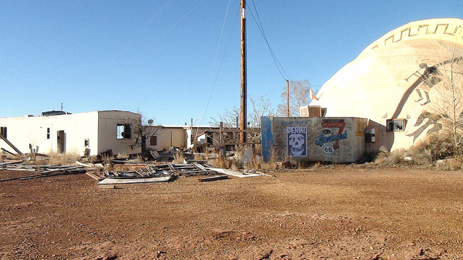 Abandoned Meteor City Trading Post near Winslow Arizona